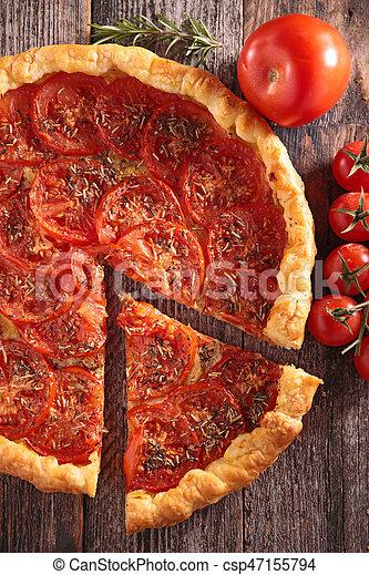 tomato quiche - csp47155794