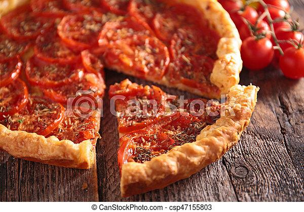 tomato quiche - csp47155803