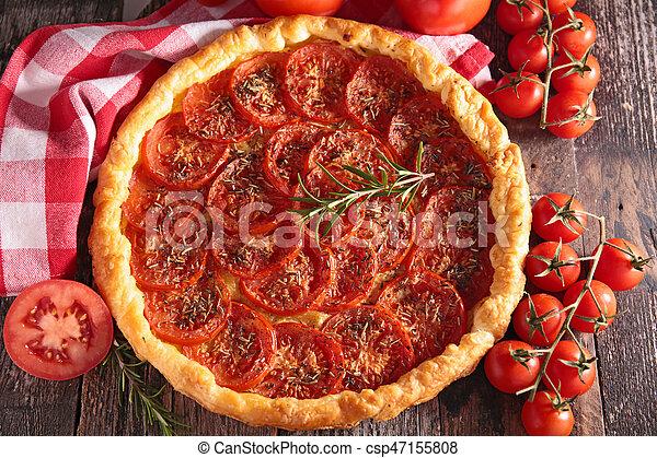 tomato quiche - csp47155808