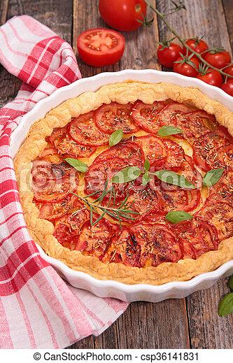 tomato quiche - csp36141831