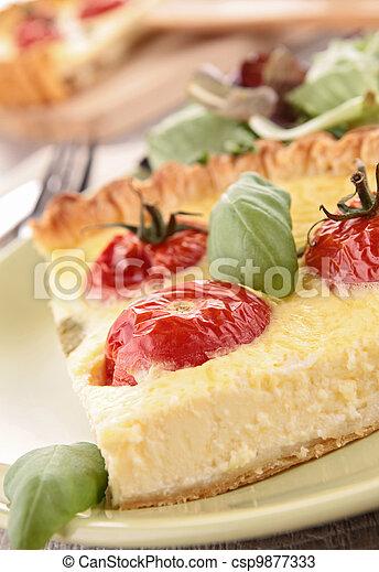 tomato quiche - csp9877333