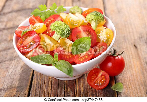 tomato salad with basil - csp37447465