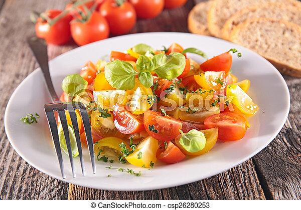 tomato salad with basil - csp26280253
