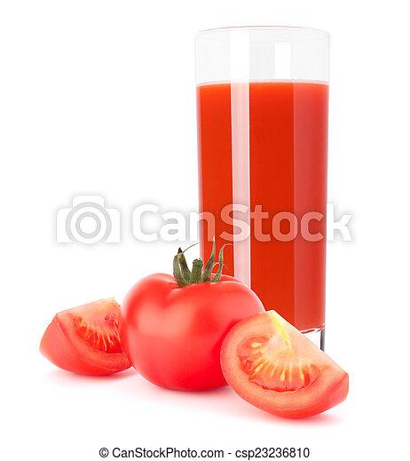 Tomato vegetable juice in glass - csp23236810