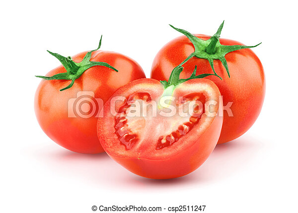 Tomato with green leaf - csp2511247