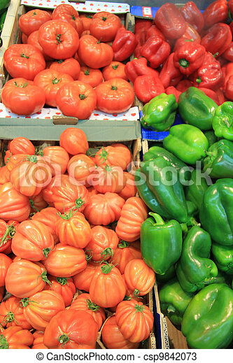 tomatoes and paprikas - csp9842073