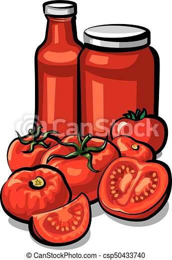 illustration of fresh tomatoes and tomato sauce and ketchup eps rh canstockphoto com ketchup bottle clipart black and white clipart ketchup bottle