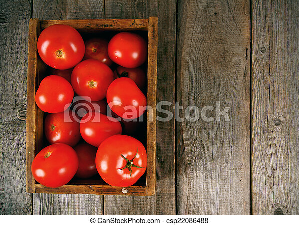 Tomatoes in a box - csp22086488