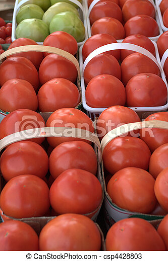 Tomatoes in Baskets - csp4428803