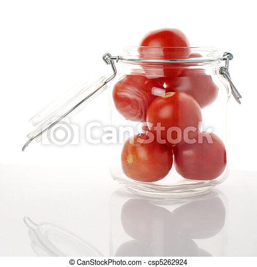 Tomatoes in jar - csp5262924