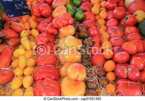 Tomatoes in various colors - csp21001485