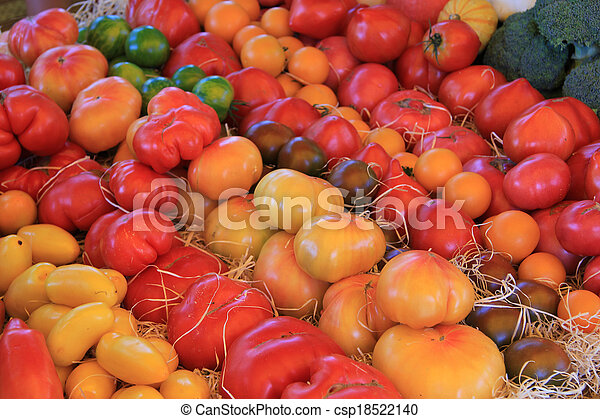 Tomatoes in various colors - csp18522140