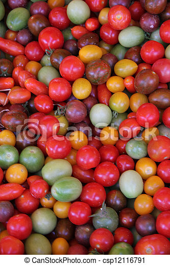 Tomatoes in various colors - csp12116791