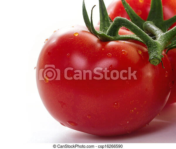 Tomatoes on white background - csp16266590