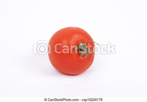 tomatos on a white background - csp15224178