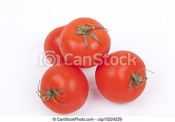 tomatos on a white background - csp15224229