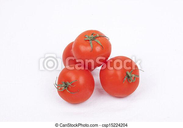 tomatos on a white background - csp15224204