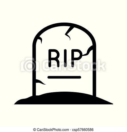 Tombstone icon vector - csp57660586
