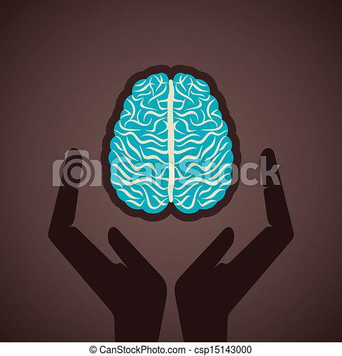 ton, cerveau, concept, assurer - csp15143000