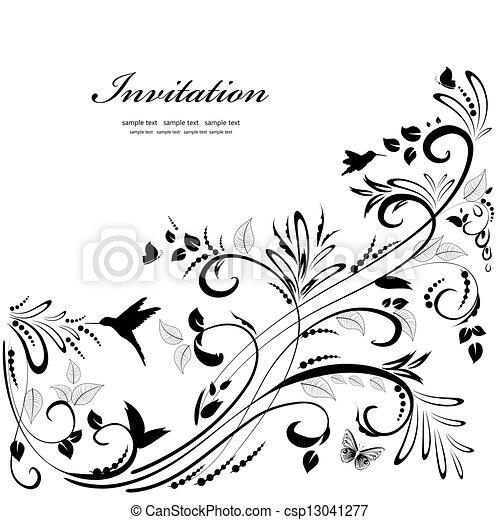 ton, conception, ornement, floral - csp13041277