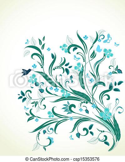 ton, conception, ornement, floral - csp15353576