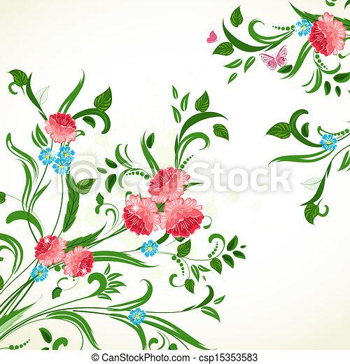 ton, conception, ornement, floral - csp15353583