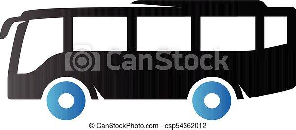 tonalité, duo, -, autobus, icône - csp54362012