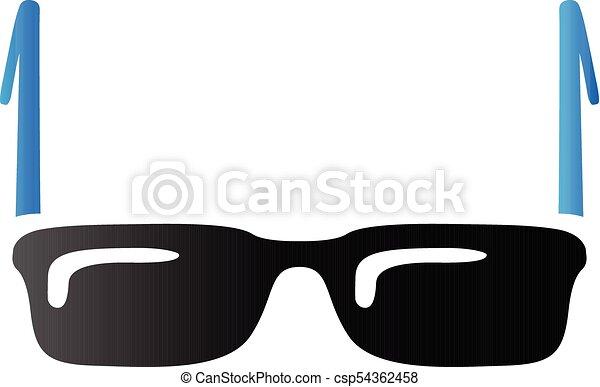 tonalité, lunettes, -, duo, icône - csp54362458
