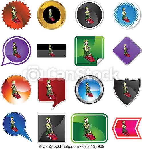tondeuse gazon - csp4193969