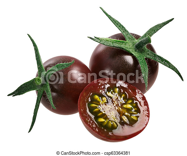 Tondo Nerón tomates de cereza, camino - csp63364381