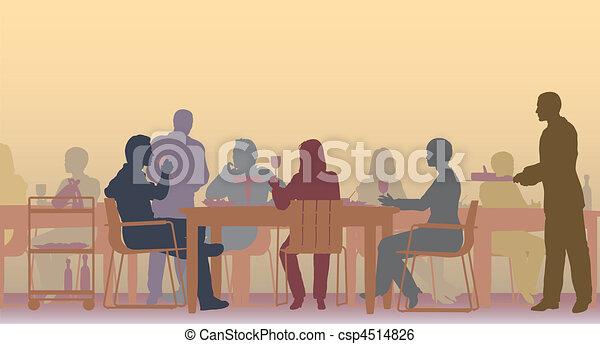 toned, ristorante - csp4514826