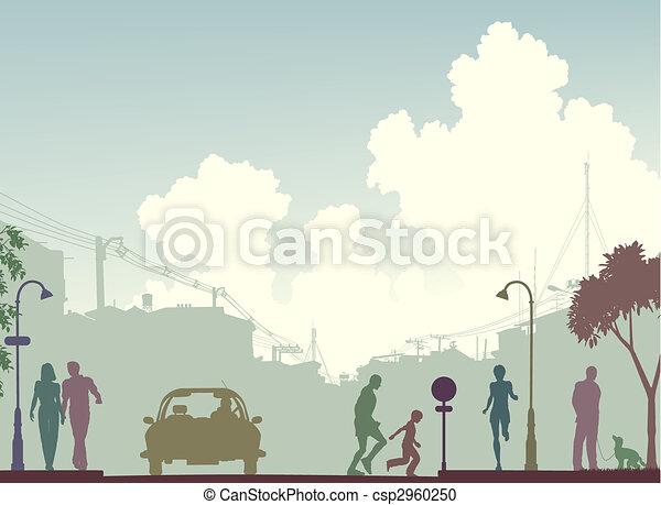 Toned street - csp2960250