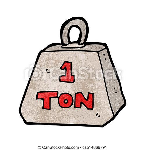 Cartón de una tonelada de peso - csp14869791