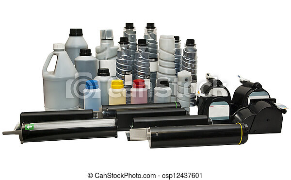 Toners and cartridges for printers - csp12437601