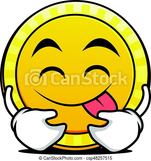 tongue out coin cartoon character vector illustration vector clip rh canstockphoto com coin clip art free downloads coin clipart for teachers