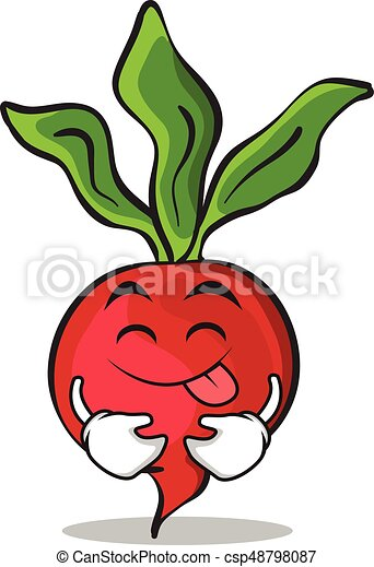 tongue out radish character cartoon collection vector vector rh canstockphoto com white radish clipart radish clipart free