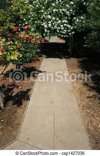 tonnelle, jardin - csp1427036