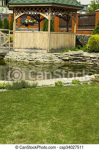 tonnelle, jardin - csp34027511