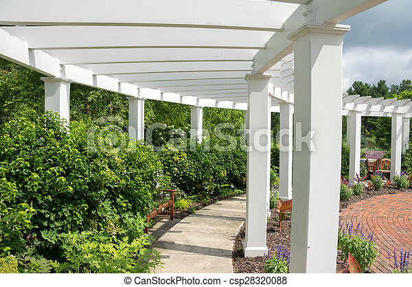 tonnelle, jardin - csp28320088