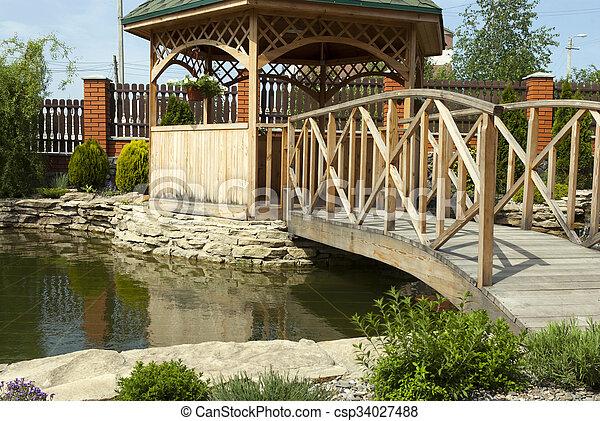 tonnelle, jardin - csp34027488