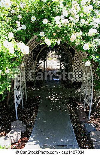 tonnelle, jardin - csp1427034