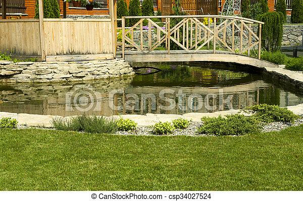tonnelle, jardin - csp34027524