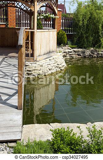 tonnelle, jardin - csp34027495