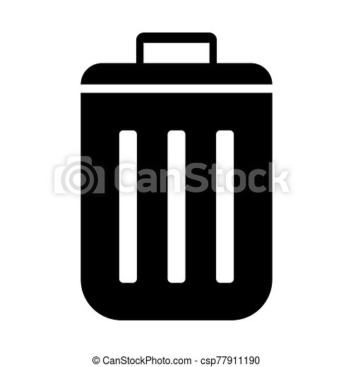 tono, basura, cesta, negro, icono - csp77911190