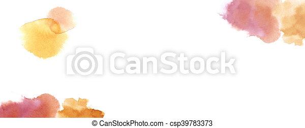 Antecedentes acuarelas con espacio copiado en tono cálido de tierra roja - csp39783373