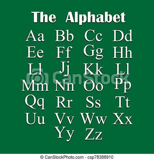 tono, inglés, alfabeto, blanco - csp78388910