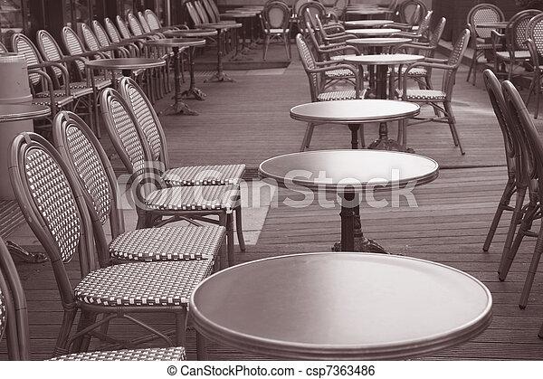 Tono Terraza : Tono sepia parís francia negro terraza blanco café.