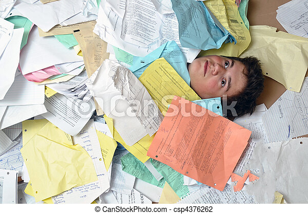Too Much Homework Assignments - csp4376262