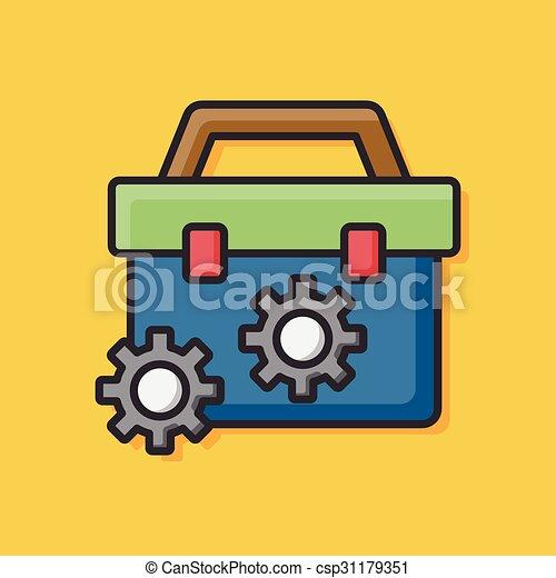 tool box icon - csp31179351