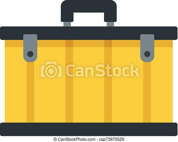 Tool box icon, flat style - csp73975529